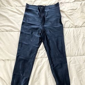 American Apparel High Waisted Disco Pants in Navy!